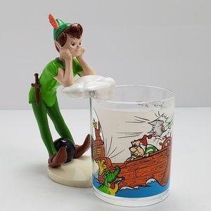 VTG Disney Peter Pan Plastic Cup Holder Decor